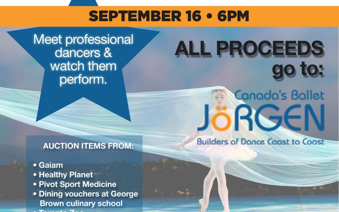 A Day for the Ballet Community Fundraiser. Sept 16th 2016.
